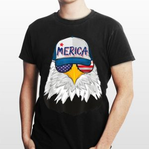 American Bald Eagle Merica Cap 4th Of July USA Sunglasses shirt