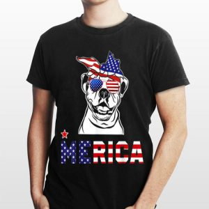 American Bulldog Merica 4Th Of July Dog Puppy shirt