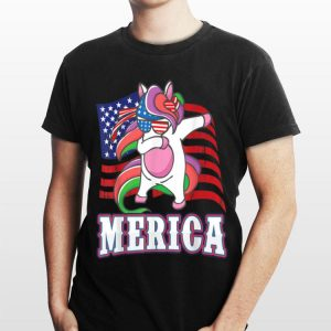 Americorn Dab For Freedom 4Th Of July Usa Dabbing Unicorn shirt
