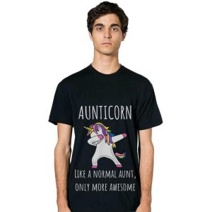 Aunticorn Like A Normal Aunt Only More Awesome Dabbing hoodie 2