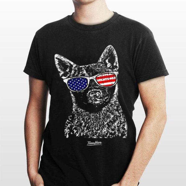 Australian Cattle Dog American Flag Blue Heeler shirt