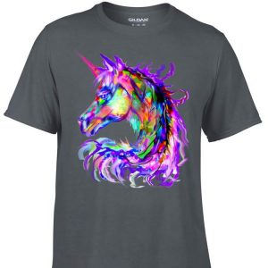 Awesome Colorful Rainbow Unicorn Festival Rave Neon shirt