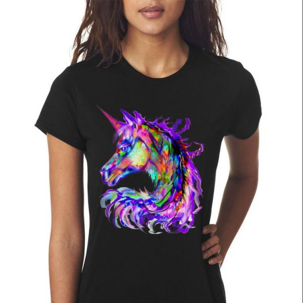 Awesome Colorful Rainbow Unicorn Festival Rave Neon shirt