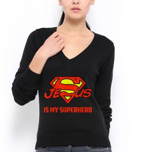 Awesome Jesus Is My Superhero Christian Quote Superman Logo shirt