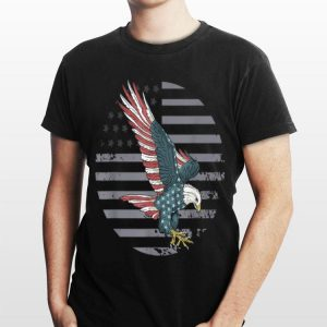 Bald Eagle Head In American Flag For Patriotic 4Th Of July shirt