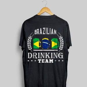 Beer Brazilian Drinking Team Casual Brazil Flag shirt