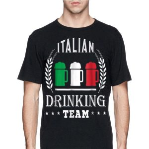 Beer Italian Drinking Team Casual Italy Flag shirt