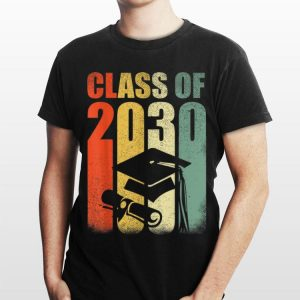 Class Of 2030 Grow With Me Vintage First Day Of School shirt