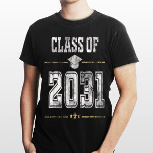 Class Of 2031 Grow With Me Happy First Day Of School shirt