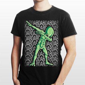 Dabbing Alien Dab Hip Hop UFO Boys Kids shirt
