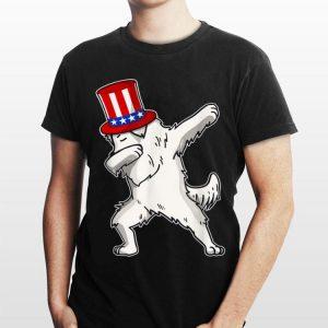 Dabbing Great Pyrenees Dog American Flag shirt