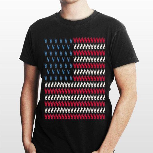 Eagle American Flag Hawk Us 4Th Of July Falcon Bird Usa shirt