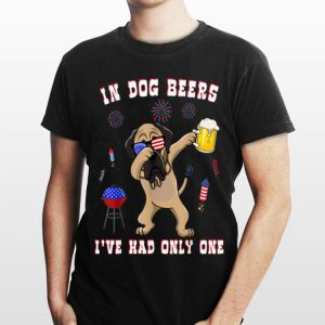 English Mastiff American Sunglasses USA Flag 4th of July Dog shirt