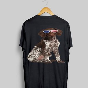 German Shorthaired Pointer In Sunglasses 4Th Of July Dog shirt