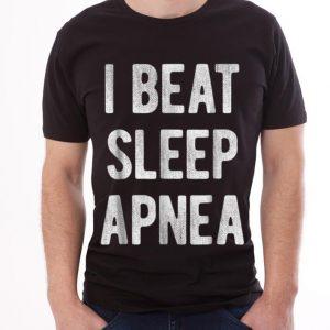 I Beat Sleep Apnea guy tee 2