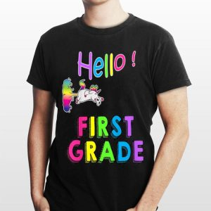 Kids Hello First Grade First day of school shirt