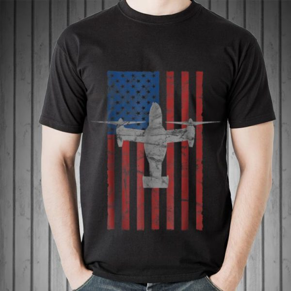 Mv 22 Osprey Aircraft American Flag For 4th Of July Sweater