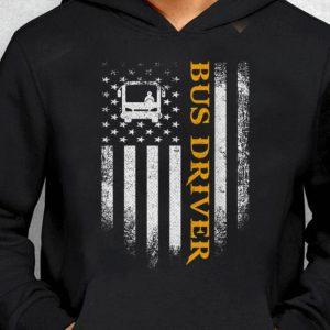Nice Trend Bus Driver American Flag Patriotic shirt