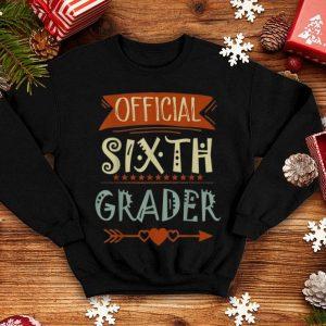 Official 6th Grader 6th Grade Back To School shirt