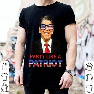 Party Like A Patriot Ronald Reagan Sunglasses USA shirt