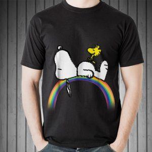 Peanuts Snoopy Woodstock rainbow sweater