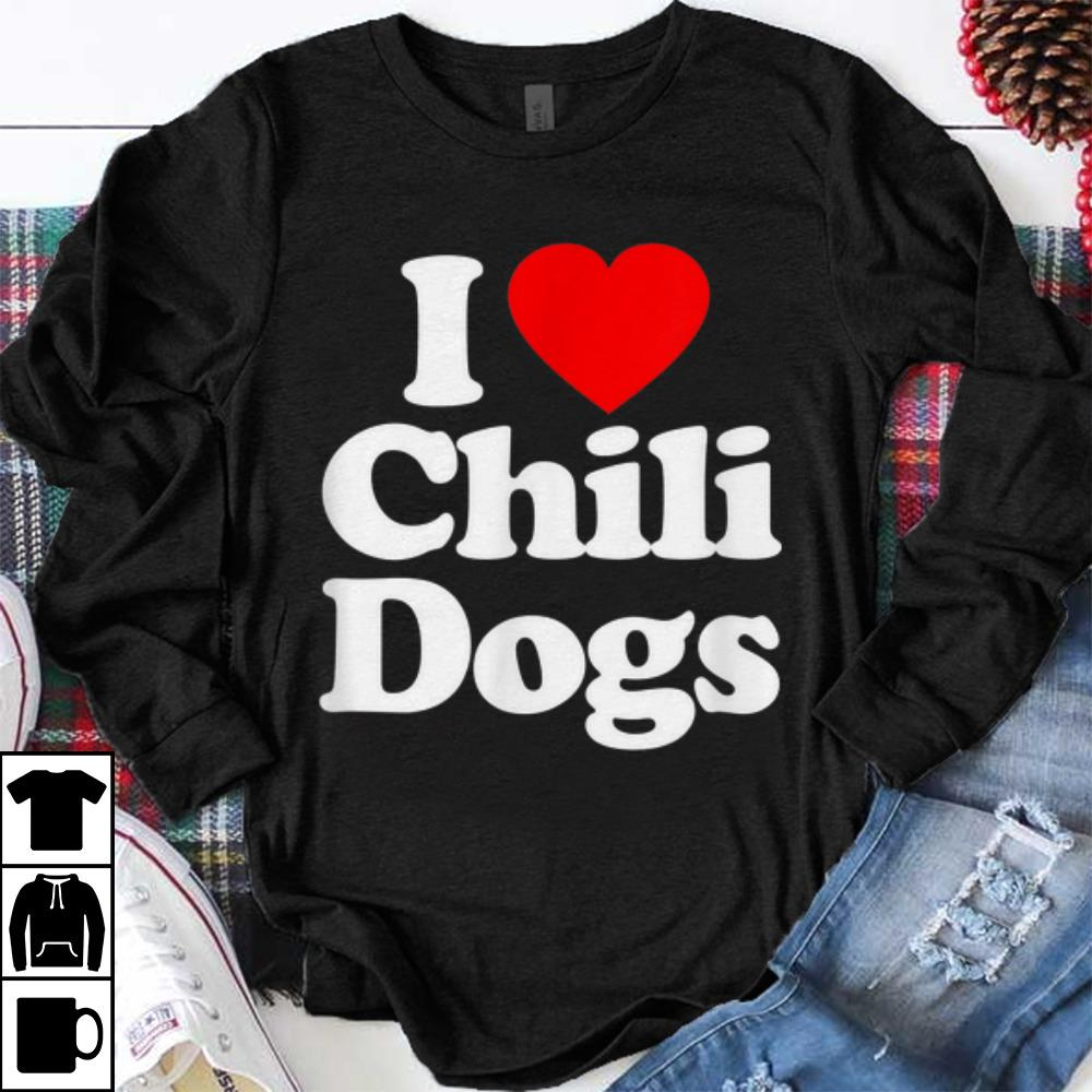 Premium I Love Chili Dogs Heart Shirt