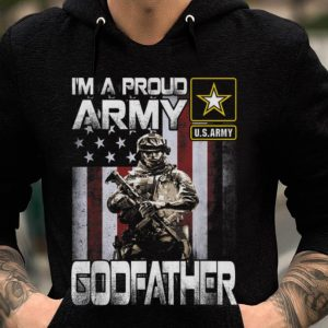 Premium I'm A Proud Army Godfather Soldier American Flag shirt