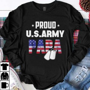 Premium Proud Us Army Papa Amrican Flag shirt