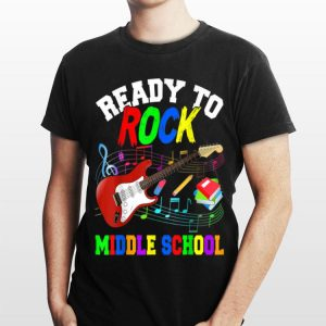 Ready To Rock Middle Shool Guitar Lover Back To School shirt