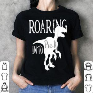 Roaring Into Pre K Dinosaur Dino For Kids Boys Girls shirt