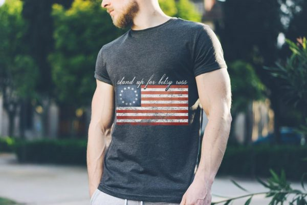 Rush Betsy Ross Limbaugh 13 Colonies Stars Stand Up For American Flag tank top