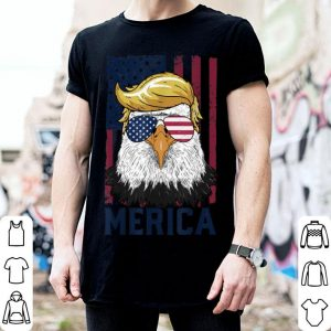 Sunglass Merica Eagle 4Th Of July Trump American Flag shirt