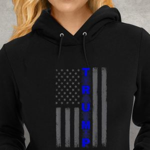 Thin blue line Trump American flag Youth tee