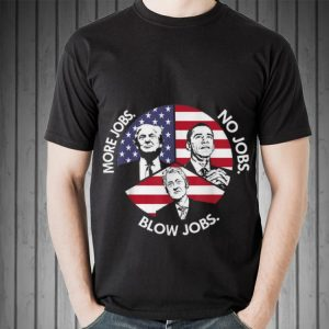 Trump More Jobs Obama No Jobs Bill Clinton Blow Jobs Peace American Flag Sweater