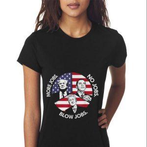 Trump More Jobs Obama No Jobs Bill Clinton Blow Jobs Peace American Flag Sweater 2