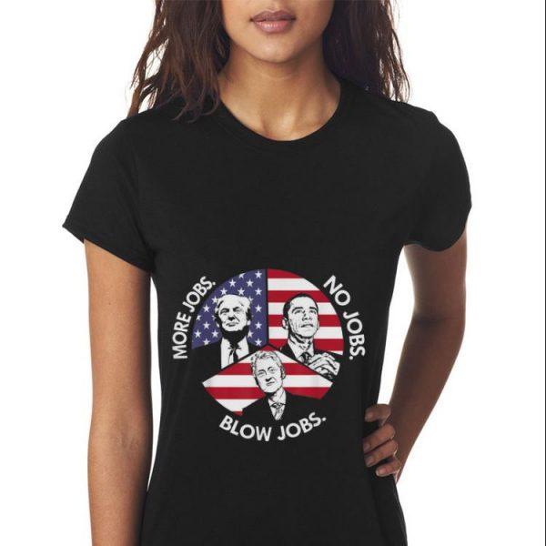 Trump More Jobs Obama No Jobs Bill Clinton Blow Jobs Peace American Flag Sweater
