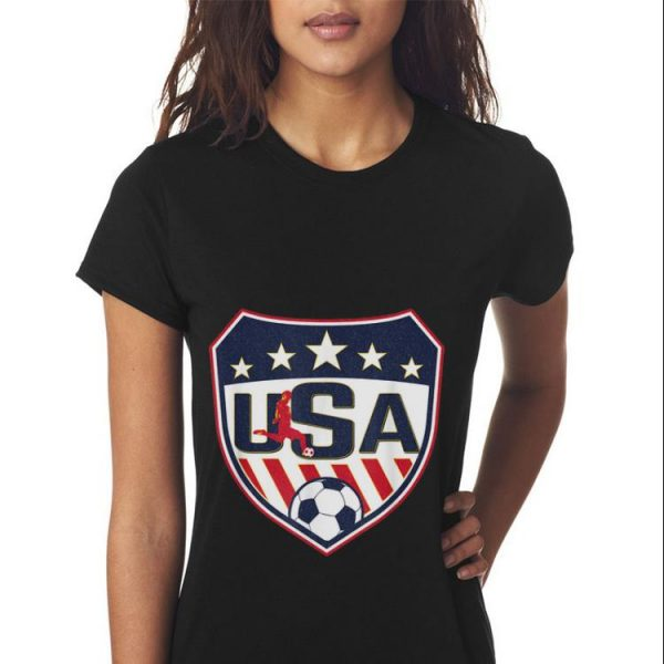 USA Shield Soccer Player Womens France 2019 sweater