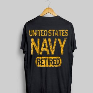 United States Navy Retired Faded Grunge shirt