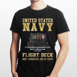 Us Navy Flight Deck Most Dangerous Job On Earth shirt