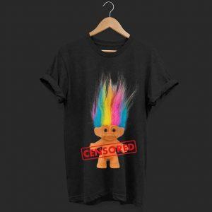 Wonderful Dreamworks Trolls Censored Rainbow Hair Censored shirt