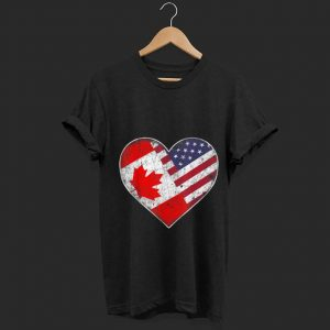 Wonderful Heart Canada And American Flag shirt