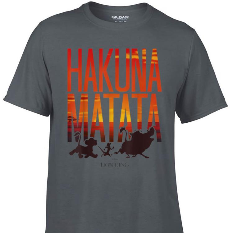 Awesome Disney Lion King Hakuna Matata Sunset shirt 1 - Awesome Disney Lion King Hakuna Matata Sunset shirt