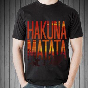 Awesome Disney Lion King Hakuna Matata Sunset shirt 1