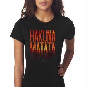 Awesome Disney Lion King Hakuna Matata Sunset shirt 2