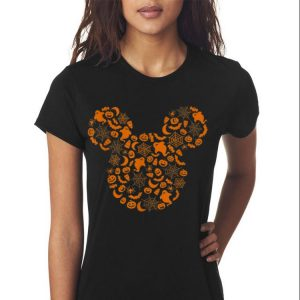 Awesome Disney Mickey Mouse Halloween Silhouette shirt 2