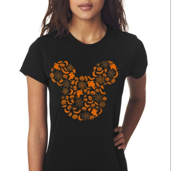 Awesome Disney Mickey Mouse Halloween Silhouette shirt