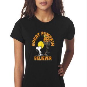 Awesome Great Pumpkin Believer Snoopy Halloween shirt 2