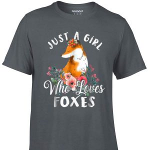 Awesome Just a Girl Who Loves Foxes Flower shirt