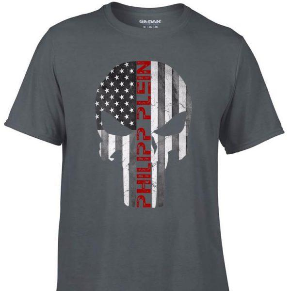 Awesome Philipp Plein Skull Rhinestones American shirt