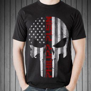 Awesome Philipp Plein Skull Rhinestones American shirt 1